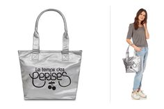 Venda Acessórios de moda tendência / 33135 / Le Temps des Cerises / Mala cabaz - Prateado