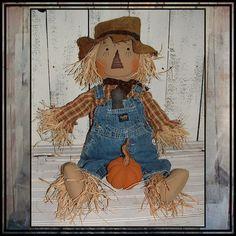 Baby size primitive country style by LucysLazyDayzFolkArt on Etsy, $50.00 #Oshkosh b'Gosh bib overalls