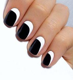"""La manucure """"total look"""" noir et blanc"""