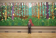 David Hockney estará en la Royal Academy de Londres hasta el 9 Abril.