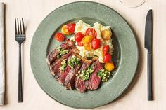 Gremolata Strip Steak Recipe | HelloFresh