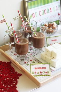 {Free Printables} Throw Your Own Cookies & Cocoa Christmas Party | Catch My Party
