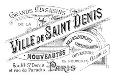 French department store advertisement...free printable Paris ephemera from The Graphics Fairy