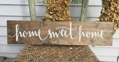 "How perfect would this be with ""since on it? A beautiful stained wood sign is made from pine wood. This rustic sign adds warmth to a room tucked on a shelf or hung on the wall. Also a perfect"