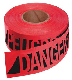 Empire 76-0604 Reinforced Construction Grade Danger/Peligro Tape Red with Black Ink, 500-Feet by 3-Inch -- Discover this special product, click the image : DIY : Do It Yourself Today