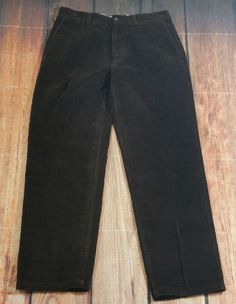 Perry Ellis Brown Corduroy Pants Mens Size W34 L30 Flat Front Relaxed Fit NEW | Clothing, Shoes & Accessories, Men's Clothing, Pants | eBay!