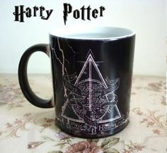 Hot sale!!!Harry Potter Mugs Color Changing Footprint Cup Mischief Managed Magic Coffee mug Cups for friend gift