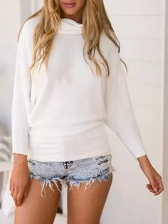 White High Neck Long Sleeve Knit Sweater 25.41