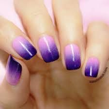 How to get ombre nails by Tom Bachik Really Cute Nails, Great Nails, Hair And Nails, My Nails, Purple Ombre Nails, Faded Nails, School Nails, Nails For Kids, Diy Nail Designs