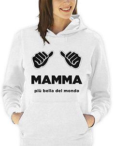 Sudadera con capucha para fiestas con diseño de La mamá-La más bella del mundo para hombre mujer todas las tallas S, M, L XL Camiseta by tshirteria XXL blanco Talla:Small donna #camiseta #friki #moda #regalo
