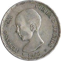 05 Pesetas. (1890)(*18-90) Madrid MP M - EBC-. Brillo original.