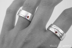 vacía la nevera: Alianzas de plata personalizadas, línea de la mano