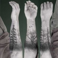 Forearm Tree Tattoo.What a cool tattoo design idea! Love it very much! This will be my next tattoo design. via http://forcreativejuice.com/awesome-forearm-tattoo-designs/