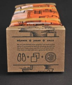 Calle - Street Soccer Shoe Packaging by Jesse Lindhorst, via Behance