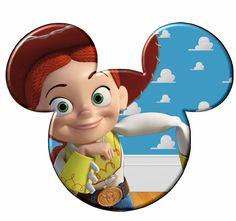 Imprimibles de cabezas de Mickey a lo Toy Story 2.