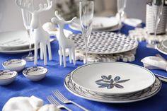 Jersey Pottery Seaflower, Sardine Run & Helice Navy ceramics, perfect for a coastal Christmas theme #JerseyPottery #ceramics #pottery #fish #shellfish