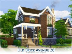 Sims 4 Updates: TSR - Houses and Lots, Residential Lots : Old Brick Avenue 28 house by Lhonna, Custom Content Download!