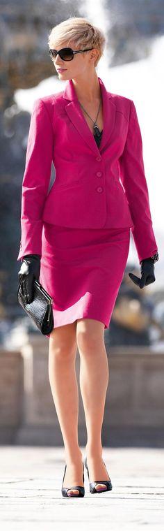 ☼Pink business dress Madeleine, mooi roze is niet lelijk. Perfecte power kleur voor het koele type!