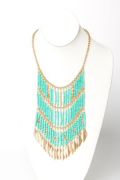 turquoise + gold + beads = yes