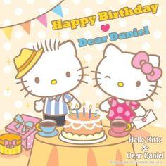 Happy Birthday Dear, Hello Kitty Birthday, Hello Kitty Backgrounds, Hello Kitty Wallpaper, Happy Crying, Anime Rules, Sanrio Wallpaper, Kawaii, 80s Kids
