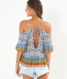 blusa ombro vazado etina