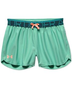 Highlight her casual-wear with these stylish shorts from Under Armour, with an adjustable drawstring for customized comfort all day long. | Polyester | Machine washable | Imported | Elastic waistband