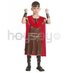 #Disfraz de guerrero #romano que incluye: túnica, vestido, capa, brazaletes…