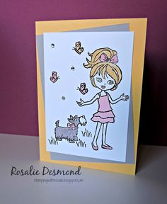 Stamping with Rosalie: A Subtle Girl - #GDP001