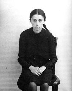 Vabalninkas, Lithuania, Shmitaite Asia, A Jewish girl, photographed on 28/05/1941.