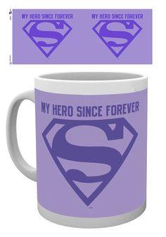 Superman Mum My Hero Mothers Day Mug - Moederdag Mok met het superman logo en de Engelse tekst 'My Hero Since Forever'.