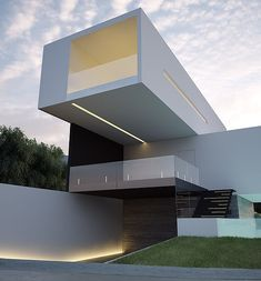 Here are the photos with interior design ideas. Get inspired! Minimalist Architecture, Contemporary Architecture, Architecture Details, Contemporary Design, Facade Design, Exterior Design, Pavillion Design, Futuristic Home, Futuristic Design