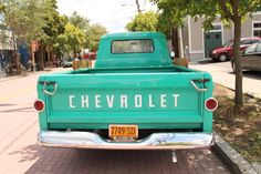 old turquoise trucks<3 i will own one before i die