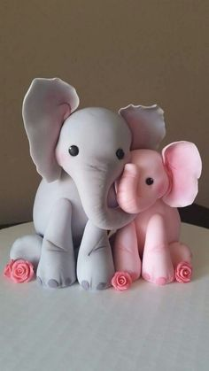 Elephant cake topper Adorable❤️ More