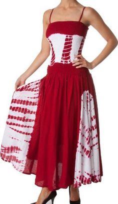 AA632 - 2-Tone Tie Dye Sleeveless Smocked Top Guazy Long Dress - Red/One Size Sakkas,http://www.amazon.com/dp/B007YW6H5O/ref=cm_sw_r_pi_dp_n1bVrb92E31041AF