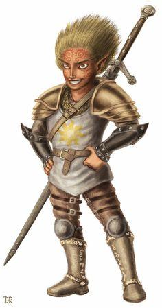 Gnome Paladin - Pathfinder PFRPG DND D&D d20 fantasy