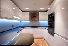 Windowless kitchen? Use the right colours & lights to create a stylish space