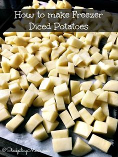 Freezer Potatoes, Canned Potatoes, Diced Potatoes, How To Cook Potatoes, Can You Freeze Potatoes, Budget Freezer Meals, Freezer Cooking, Freezer Recipes, Cooking Tips
