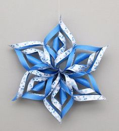 3D Paper Snowflake Craft   Kids' Crafts   FirstPalette.com