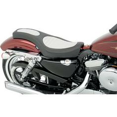 Spoon Style Seat Classic Stitch With White Insert- Harley Davidson XL Sportster Models 10- 13 - DS-0804-0463 Review Buy Now