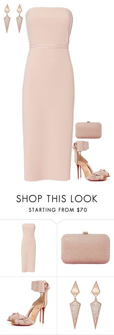 """Untitled #3854"" by injie-anis ❤ liked on Polyvore featuring Elizabeth and James, Dune, Christian Louboutin and Sara Weinstock"