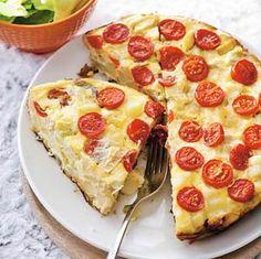 Recept - Aardappelomelet met tomaten