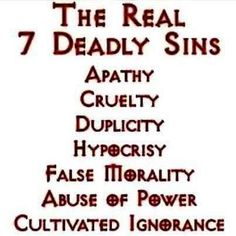 "Maybe not ""REAL"" but certainly ""additional sins"". The others are real. The Words, Free Your Mind, 7 Deadly Sins, Thing 1, Lectures, Atheist, Inspire Me, In This World, Decir No"