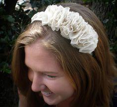 Design by Night: Recycled Ruffled Headband