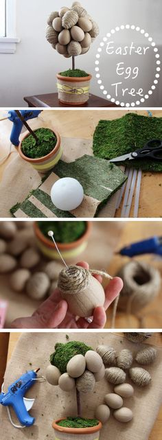 Love this beautiful Easter DIY! A modern, neutral-colored egg topiary is refreshing and sleek. This would look great on a side table, entryway on the Easter Sunday table and would even make a great hostess gift. Plus, it's easy to make and doesn't require too much time. Get the instructions here: http://www.ehow.com/how_2126492_make-easter-egg-tree.html?utm_source=pinterest.com&utm_medium=referral&utm_content=inline&utm_campaign=fanpage