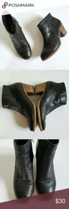 Crown Vintage black leather ankle boots Crown Vintage black leather ankle booties in size 7.5. Zip up on inner side. So cute with skinny jeans or skirts. Some minor wear but still in great condition (see photos). Crown Vintage Shoes Ankle Boots & Booties