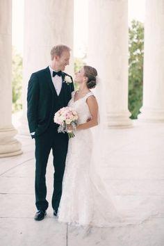 dc monument wedding photo, romantic bridal bouquet from romantic blush wedding at Hay Adams hotel wedding