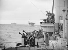 The British escort carriers HMS Campania and Nariana, astern of the light cruiser Bellonia during 'repel aircraft' stations maneuvers. British Navy Ships, Royal Navy Aircraft Carriers, Naval History, Military Diorama, Warfare, Sailing Ships, Wwii, Boat, Weapons