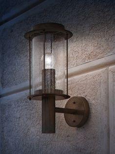 Loggia wandlamp Il Fanale verouderd koper