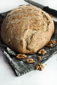 Rustic Wheat, Date & Walnut Bread - Love Food Eat