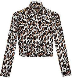 @bonadrag #Wren #50s #Leopard #Crop #Turtleneck